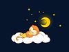 Vector clipart: Cat sleeping