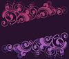 Curly floral frame