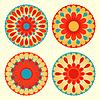 Kwiatowe mandale | Stock Vector Graphics