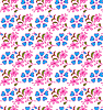 Vector clipart: seamless floral