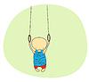 Vector clipart: Cute gymnast