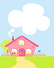 Vector clipart: cute cartoon house