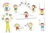 Vector clipart: Juggling kids