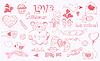 Vector clipart: doodle love