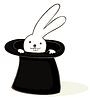 Vector clipart: Bunny in hat