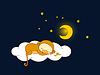 Vector clipart: Monkey sleeping