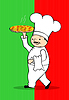 Vector clipart: Chef with pizza