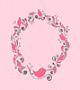 Vector clipart: Floral frame with bird