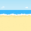 Cartoon beach | Stock Vector Graphics