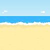 卡通沙滩 | 向量插图