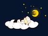 Vector clipart: Sheep sleeping