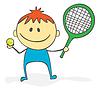 网球 | 向量插图