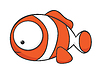 Vector clipart: Big-eyed clownfish