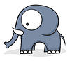 Big-eyed elephant | Stock Vector Graphics