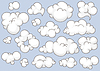 Vector clipart: clouds set