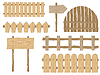 Vector clipart: Fences and signs