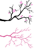 Branch tree in bloom | Stock Vector Graphics
