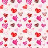 Wzór tekstury miłość | Stock Vector Graphics