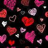 Love pattern background | 向量插图