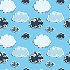 Vector clipart: Seamless pattern with Blue Clouds