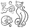 Vector clipart: Funny cats sketch collections