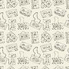 Nahtlose Muster von Retro Kassetten