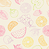 Vector clipart: Seamless fruits background