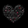 心脏。爱。背景 | 向量插图