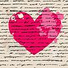 Serce. Kocham. tło | Stock Vector Graphics