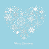 Vector clipart: Heart of Snowflakes