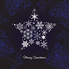Vector clipart: Christmas star of Snowflakes