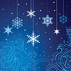 Snowflakes background | Stock Vector Graphics