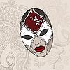 Vector clipart: Venecian carnival mask