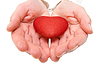 Red heart in woman hands | Stock Foto