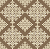 Vector clipart: Ornament on brown background
