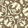 Vector clipart: Elephant seamless