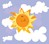 Vector clipart: Sun and clouds