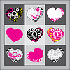 Vector clipart: Pink hearts with gears