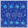 Vector clipart: Eight different christmas balls
