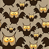 Vector clipart: Seamless pattern with owl