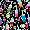 Vector clipart: seamless background of bottles