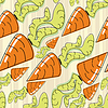 Vector clipart: carrot - seamless pattern