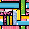 Vector clipart: Decorative seamless with colorful elements. Pattern