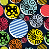Vector clipart: Colorful decorative buttons - seamless