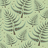 Vector clipart: decorative trees - seamless pattern