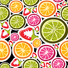 Vector clipart: Fruit seamless background