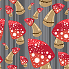 Vector clipart: mushroom seamless background