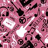 Vector clipart: music seamless