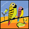 Vector clipart: Parrot couple