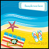 Vector clipart: Aerial Beach Scene